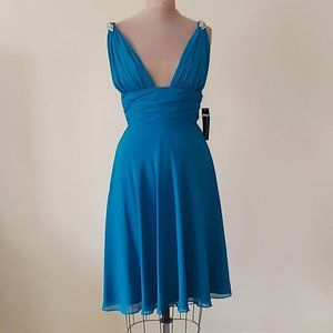 NWT Faviana Short Dress in Teal Style #6037